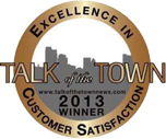 Talk of the Town 2013 Winner - Excellence in Customer Satisfaction